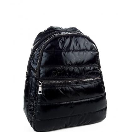 Дамска раница от найлон в черен цвят T2913-2