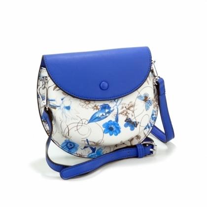 Синя малка чанта за през рамо, 7883-1