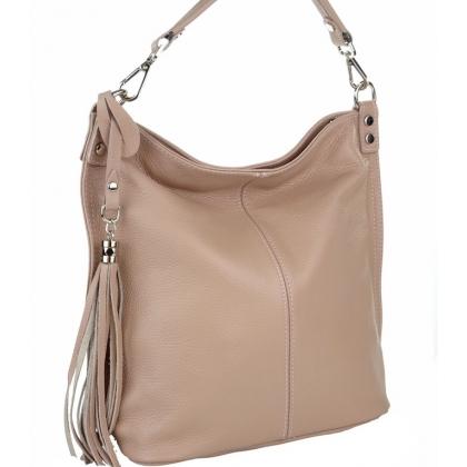 Чанта тип торба от естествена кожа 11923-2