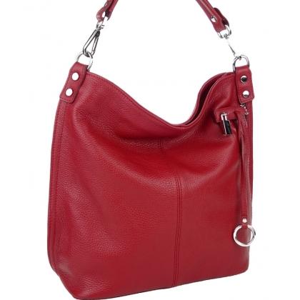 Чанта тип торба с катинарче от естествена кожа 22033