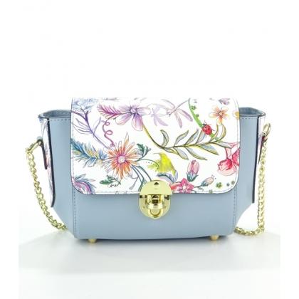 Малка кожена чанта на цветя
