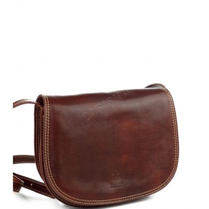 Дамска чанта от естествена кожа за през рамо