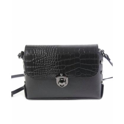 Черна чанта през рамо
