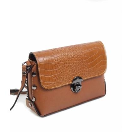Малка дамска чанта с капак, През рамо,135013-2