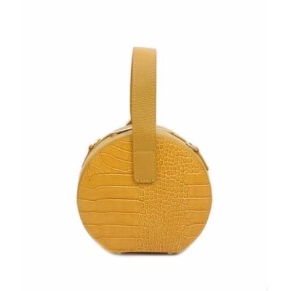 Жълта кожена чантичка