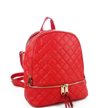 Дамска раница от еко кожа в червен цвят