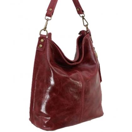 Дамска чанта тип торба от естествена кожа 1193L-1