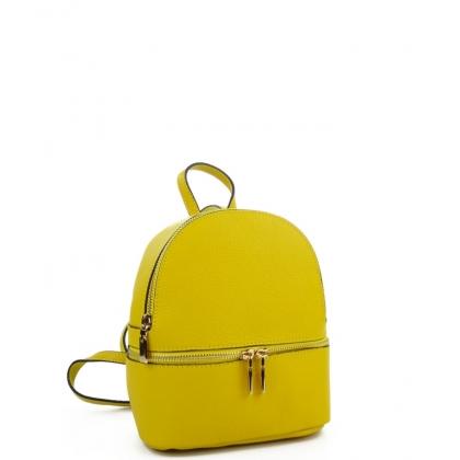 Малка кожена раничка в жълт цвят, Италия