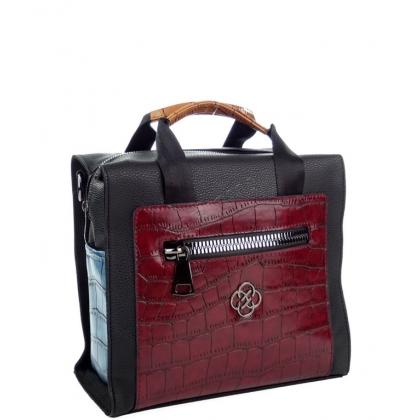 Дамска чанта-раница от еко кожа, многоцветна, 2561-1