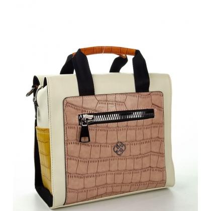 Дамска раница-чанта от еко кожа в бежов цвят, 2561-2