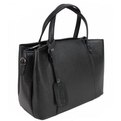 Дамска чанта от естествена кожа в сив цвят 13593-2