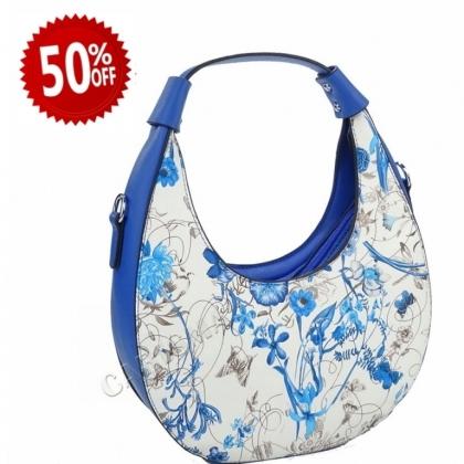 Кръгла синя чанта