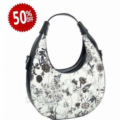 Дамска чанта с флорални мотиви 2031L-4