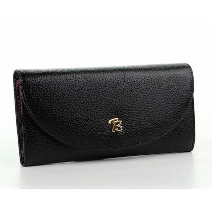 Дамско кожено портмоне в черен цвят, 871,