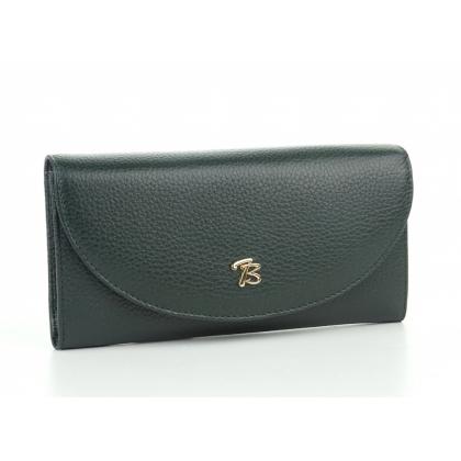 Тъмнозелено дамско портмоне