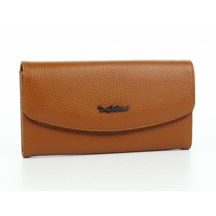 Кафяво дамско портмоне
