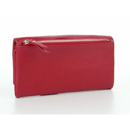 Червено кожено портмоне