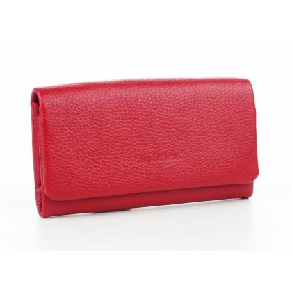 Червено кожено портмоне, Дамско, 888-2