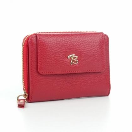 Червен дамски портфейл, Кожен, 870-1