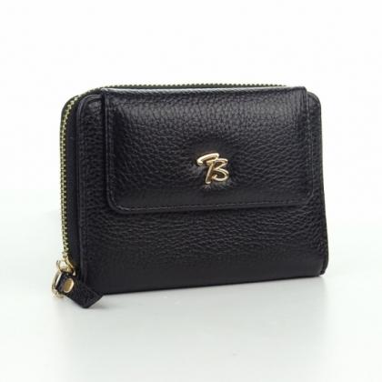 Черен дамски портфейл, Среден размер, 870-2