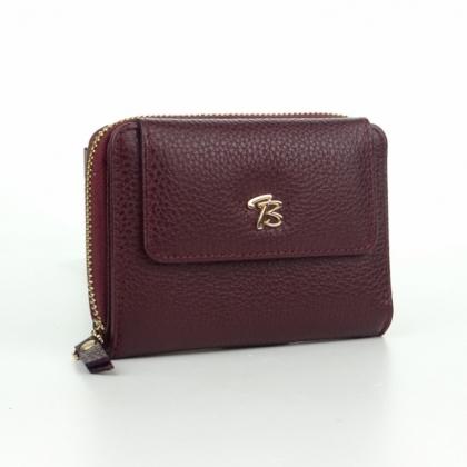 Дамски кожен портфейл, Цвят Бордо, 870-3