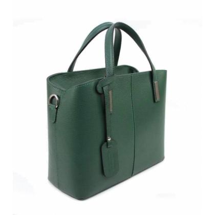 Тъмнозелена кожена чанта, Тип Куфарче, 1354-4