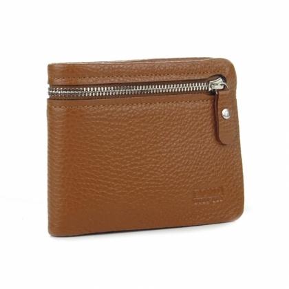 Кафяво мъжко портмоне с цип, 502-2