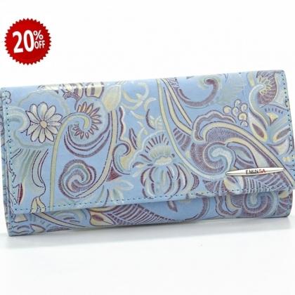 Синьо дамско портмоне, 2153-12