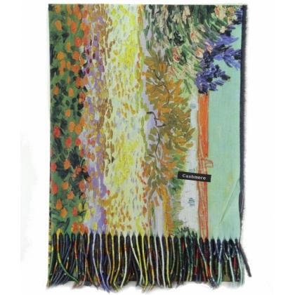 Кашмирен дамски шал, Многоцветен, Двустранен, 0232