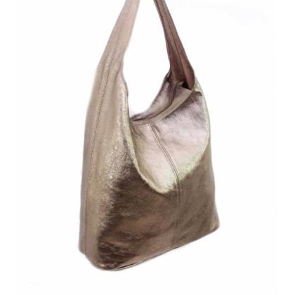 Кожена чанта бронз