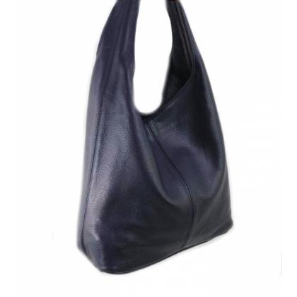 Кожена торба тъмносиня