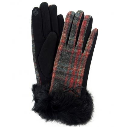 Дамски ръкавици от текстил с косъм, 2109