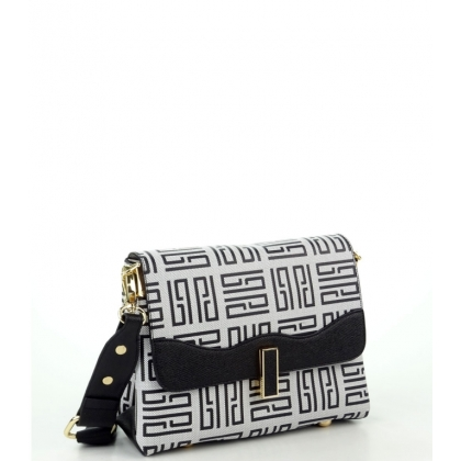 Малка дамска чанта от еко кожа и текстил