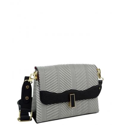 Дамска чанта от еко кожа и текстил 971-3