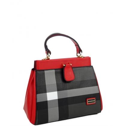 Дамска чанта от еко кожа в червено 984