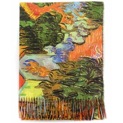 Романтичен дамски шал от Кашмир, Цветя, 1041