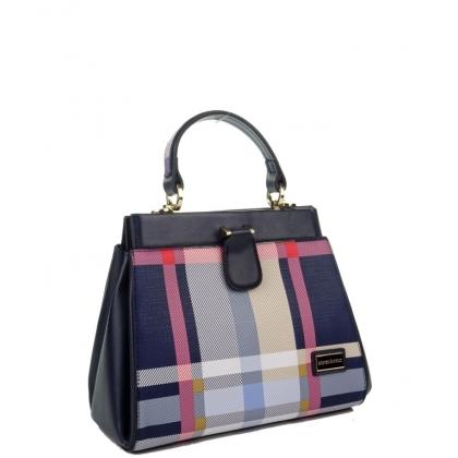 Дамска чанта Silver Polo в син цвят