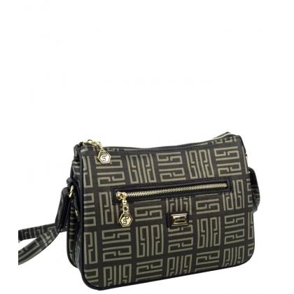 Чанта от еко кожа в черно 818-4