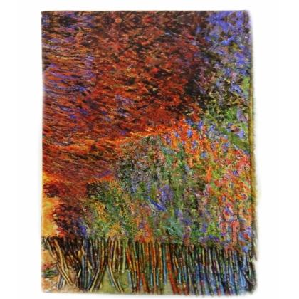 Вълнен дамски шал, Многоцветен, Двулицев, 5040-1