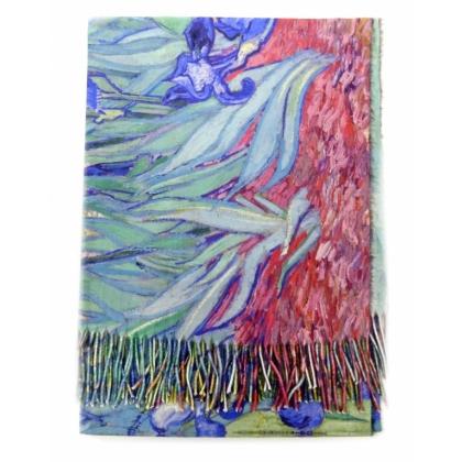 Двулицев вълнен шал, На цветя, Картина, 5040-2