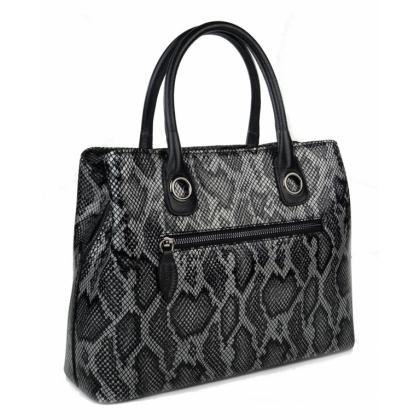 Змийски принт чанта