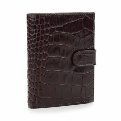 Тъмнокафяв мъжки портфейл, Шагрен, 527