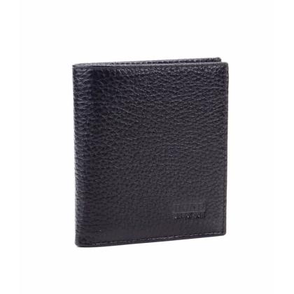 Мъжки черен портфейл, С магнитно закопчаване, Щипка за пари, 513