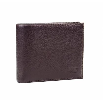 Кафяв мъжки портфейл, С монетник, 531-1