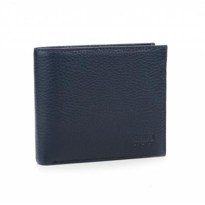 Тънък мъжки портфейл, Тъмносин, Хоризонтален, 531-2