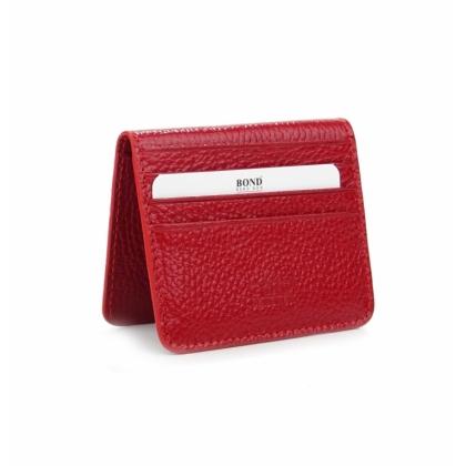 Червено портмоне- визитник, С магнит, 557