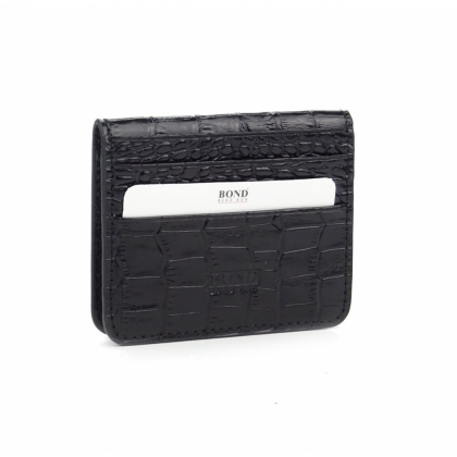 Черен визитник-портмоне, Малко, 557