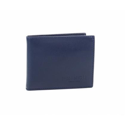 Син мъжки портфейл, Естествена кожа, 749-1