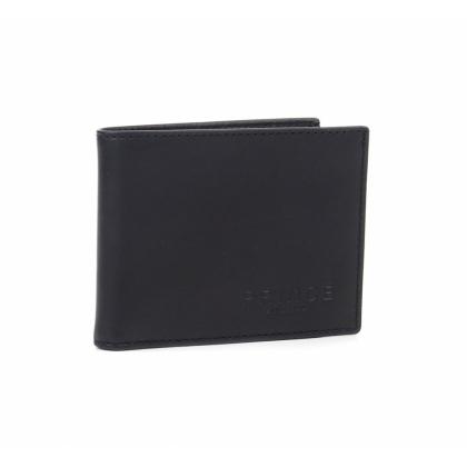Черен мъжки портфейл, Мека естествена кожа, 749-3