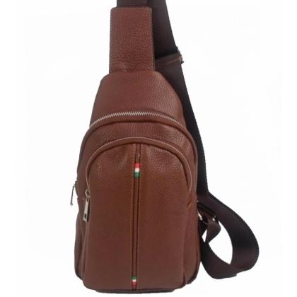 Мъжка чанта-раница от естествена кожа 17203-1